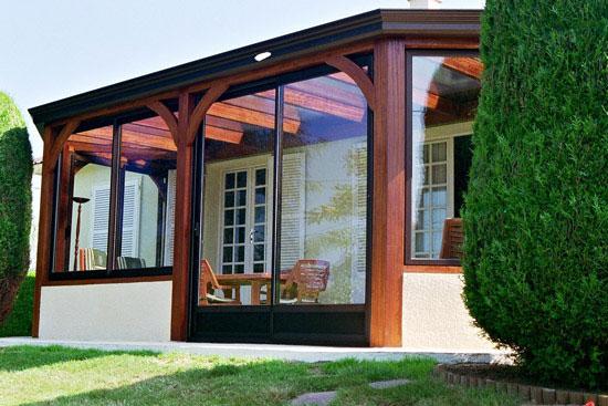 Photos des réalisations de verandas J&L en bois # Plan Veranda Ossature Bois