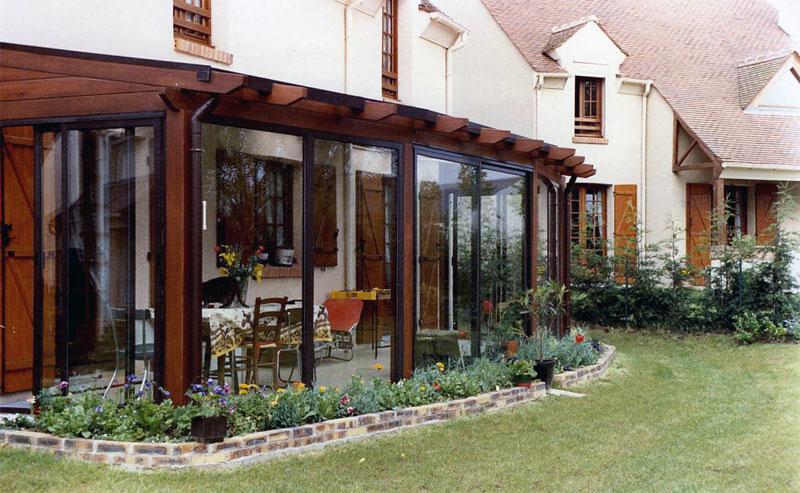 Photos des r alisations de verandas j l en bois for Veranda en bois prix